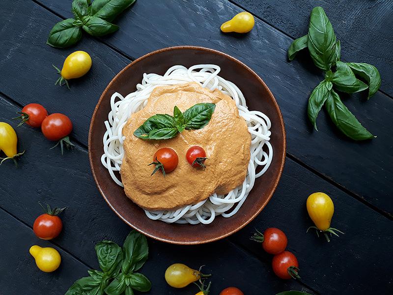 Vegane Glutenfreie Gemuese Pasta Sauce Ohne Oel Rezept 3