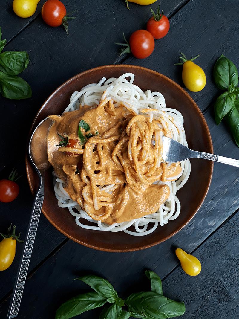 Vegane Glutenfreie Gemuese Pasta Sauce Ohne Oel Rezept 4