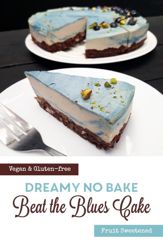 Vegan Gluten free No Bake Dreamy Blue Cake Fruit Sweetened Recipe P3