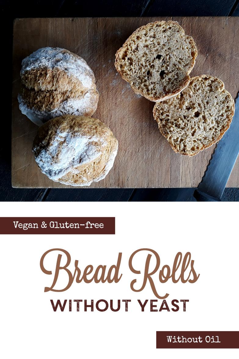 Vegan Gluten free Oil free Yeast free Bread Roll Recipe P3