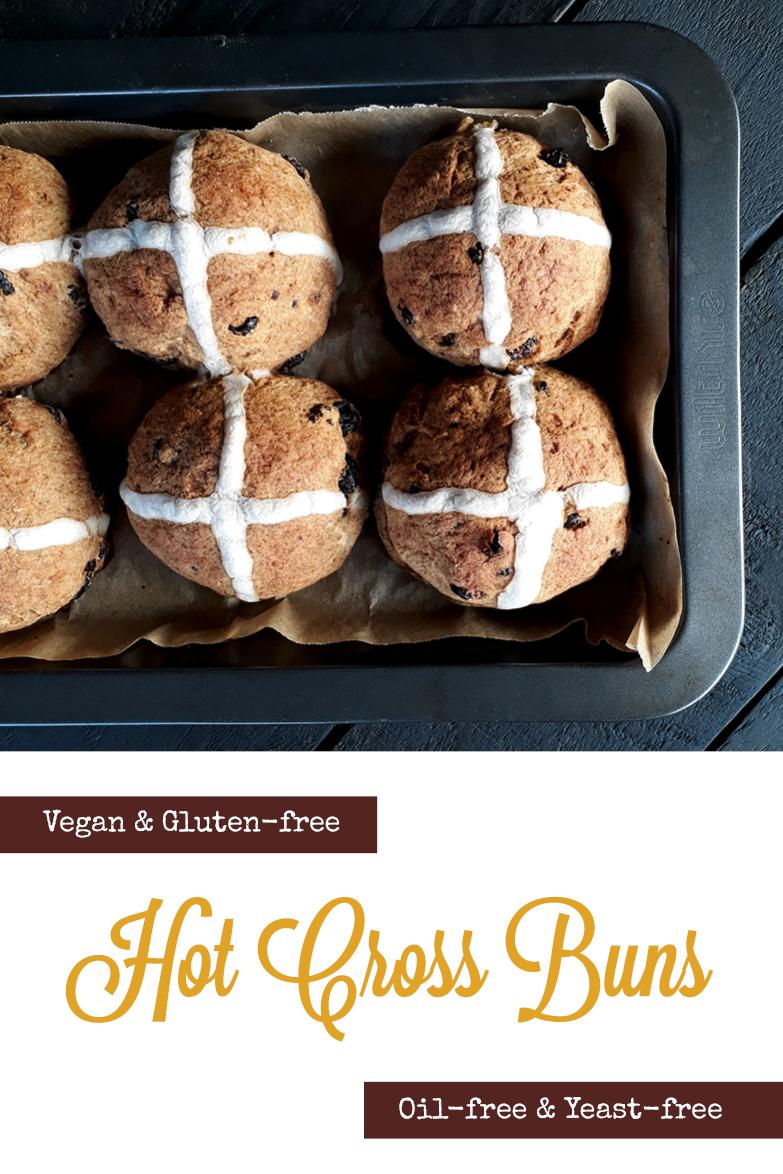 Vegan Gluten free Oil free Yeast free Hot Cross Buns Recipe P2