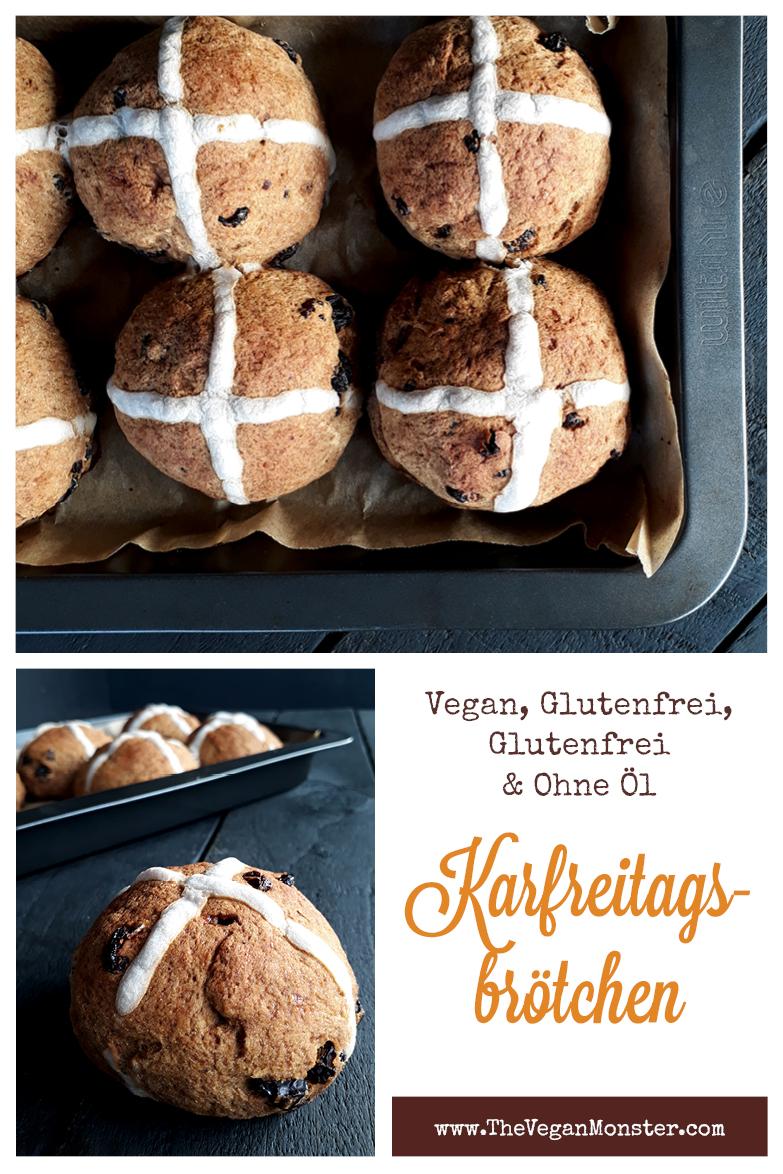 Vegane Glutenfreie Karfreitags Broetchen Rosinenbroetchen Ohne Oel Ohne Hefe Rezept P1
