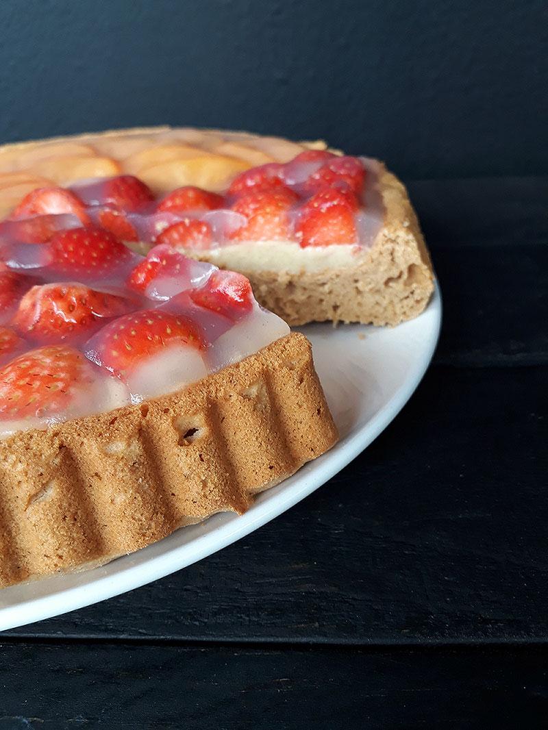 Klassischer Erdbeer Kuchen Vegan Glutenfrei