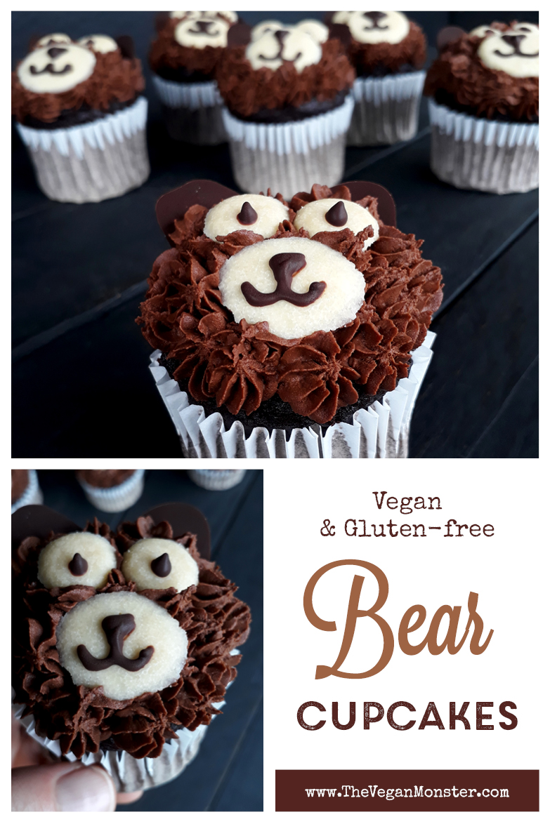 Vegan Gluten free Chocolate Bear Cupcakes Recipe P1