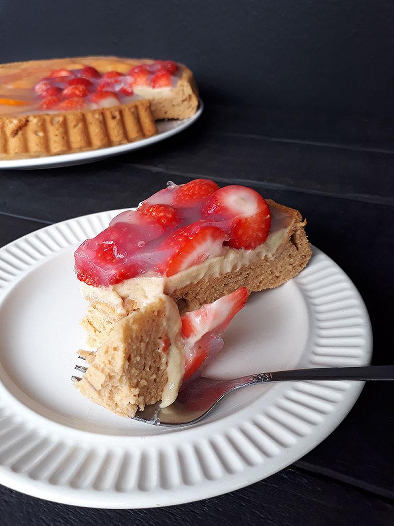 Vegan Gluten free German Strawberry Cake