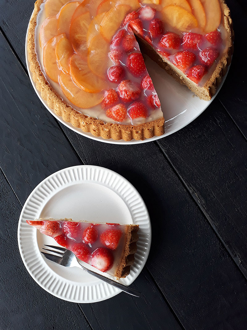 Vegan Glutenfrei Klassicher Obstkuchen