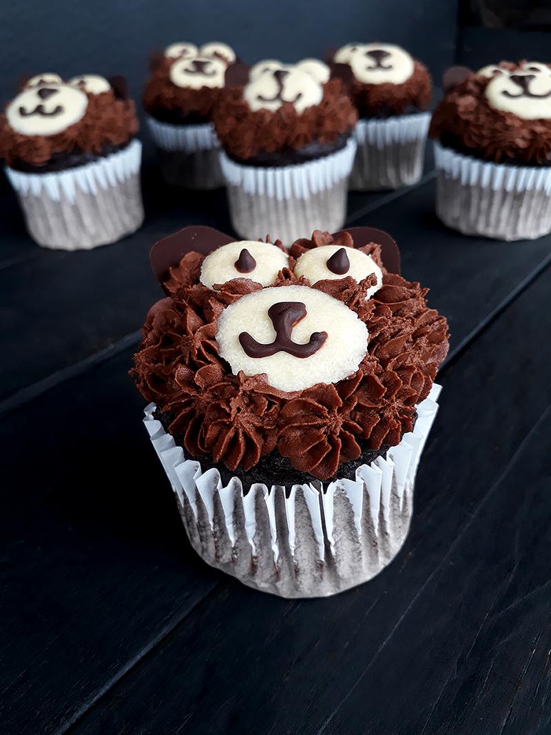 Vegan Glutenfreie Schoko Baren Cupcakes Rezept 1
