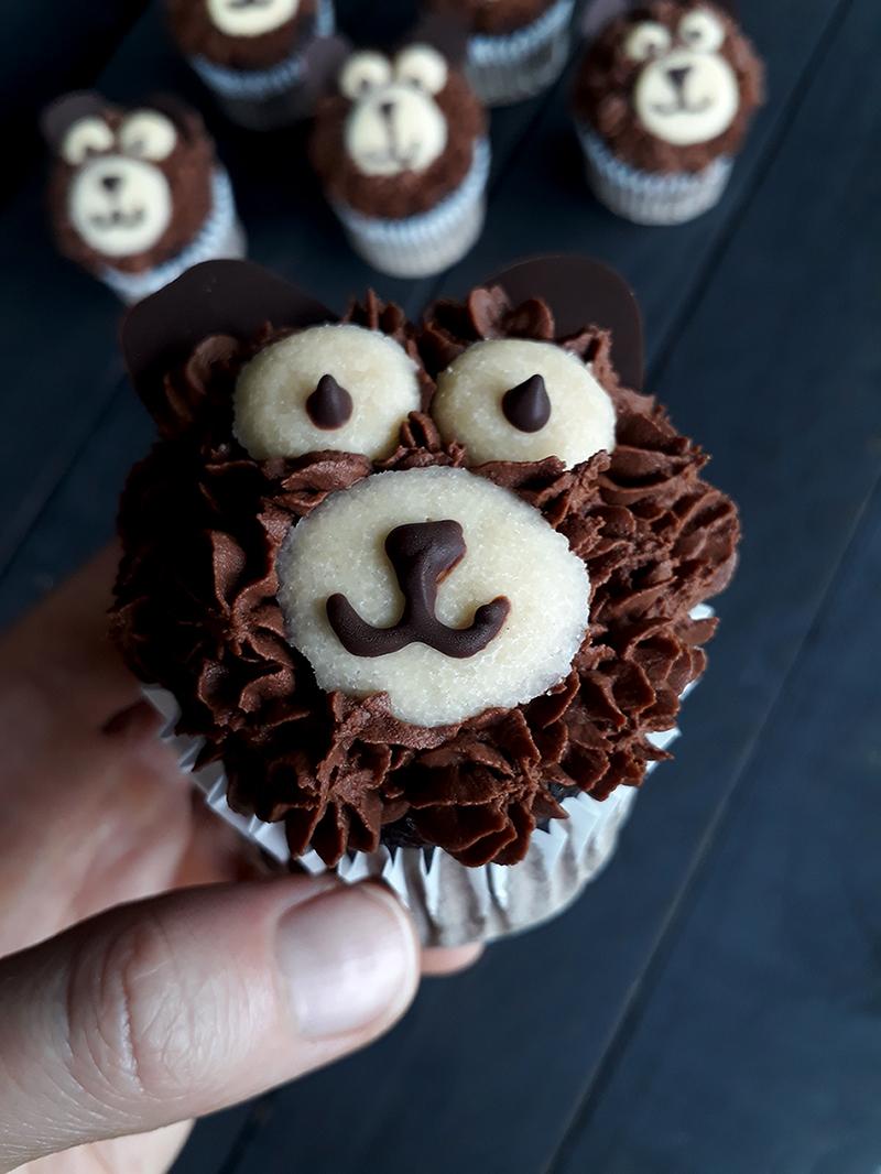 Vegan Glutenfreie Schoko Baren Cupcakes Rezept 2