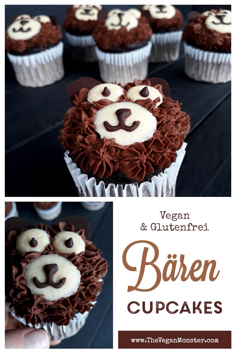Vegan Glutenfreie Schoko Baren Cupcakes Rezept P1