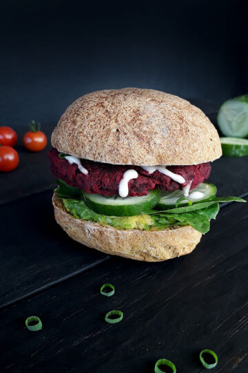 Beetroot Burger Vegan Gluten free Recipe 1