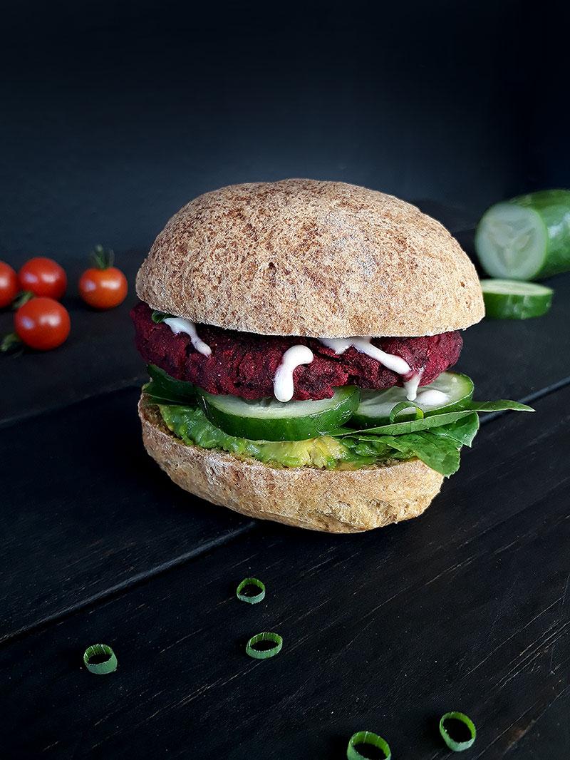 Rote Beete Burger (Vegan, Glutenfrei, Ohne Öl)