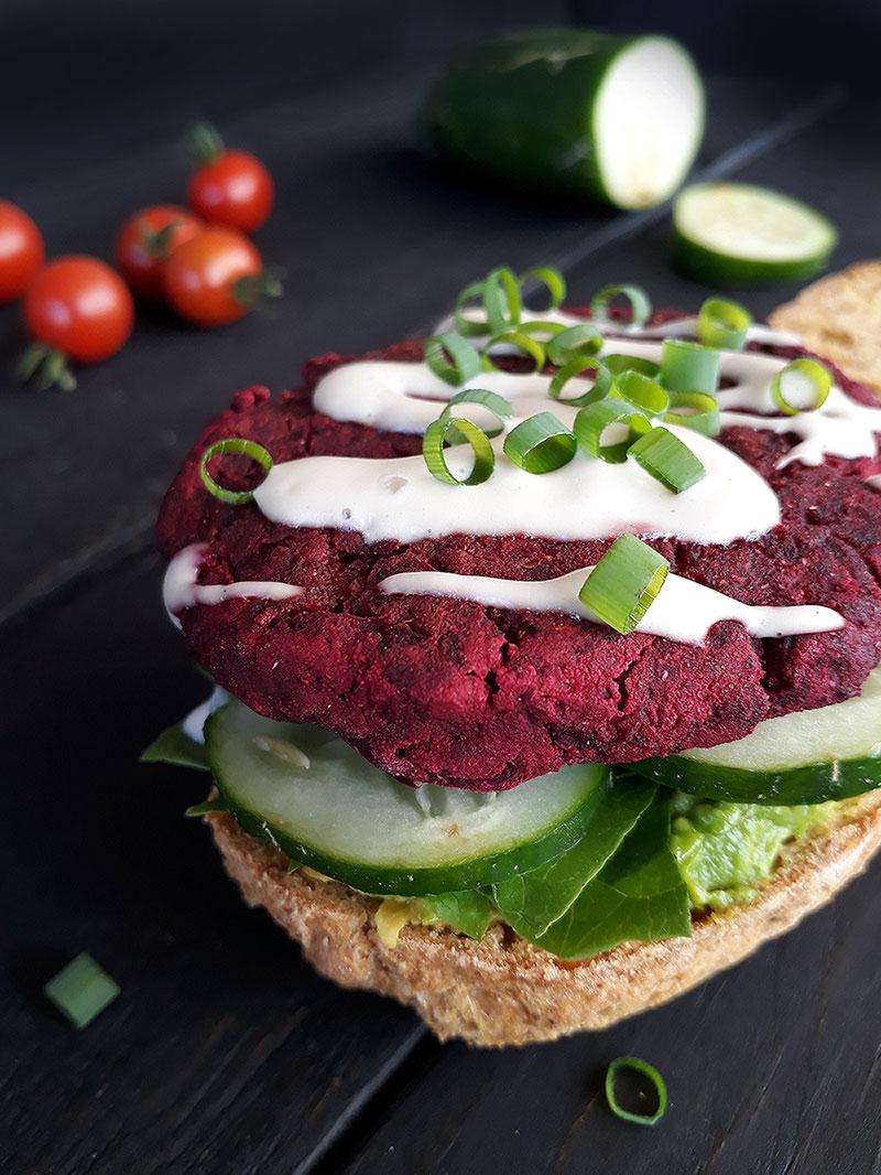 Rote Beete Burger Vegan Glutenfrei