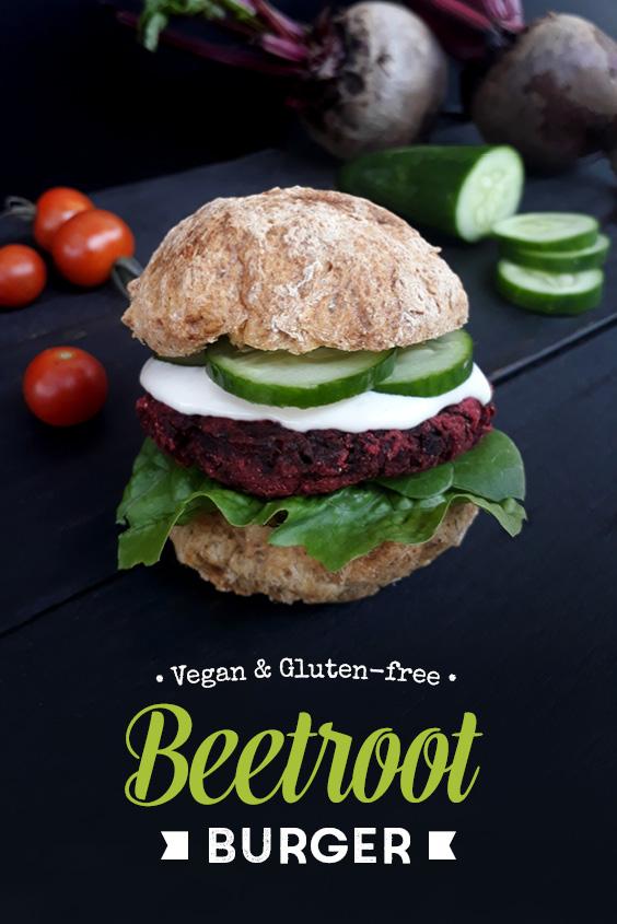 Vegan Gluten free Beetroot Burger Recipe P3