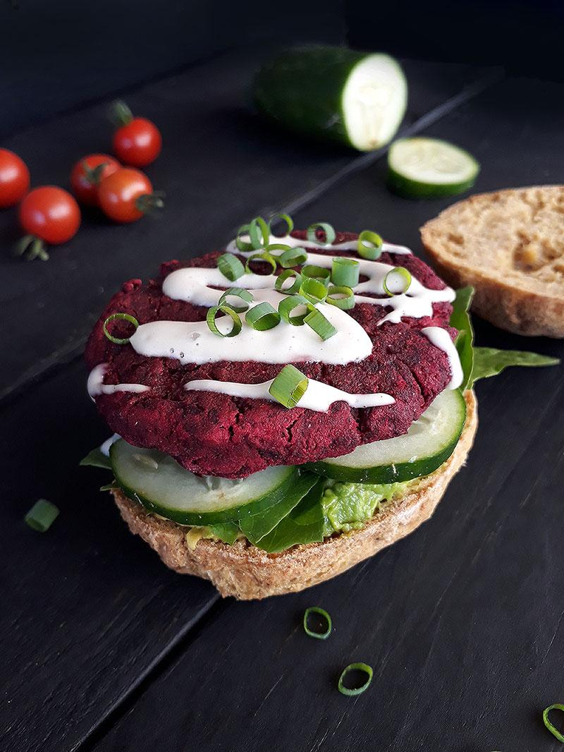 Vegan Gluten free Beetroot Burger Recipe