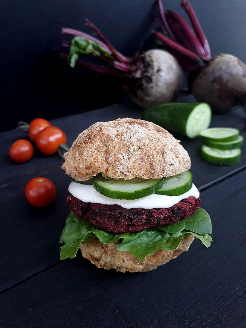 Vegan Gluten free Beetroot Burger