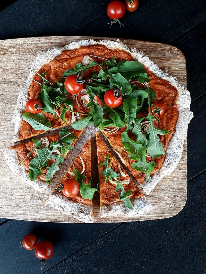 Pizza Vegan Glutenfrei Ohne Hefe Rezept