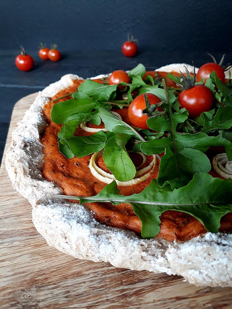 Potato Pizza (Vegan, Gluten-free, Yeast-free)