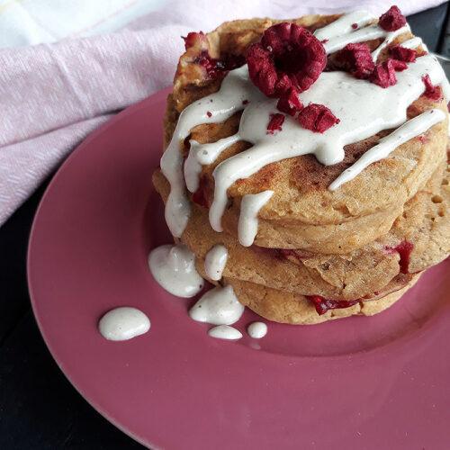 Aprikosen Himbeer Pfannkuchen Vegan Glutenfrei Rezept 1