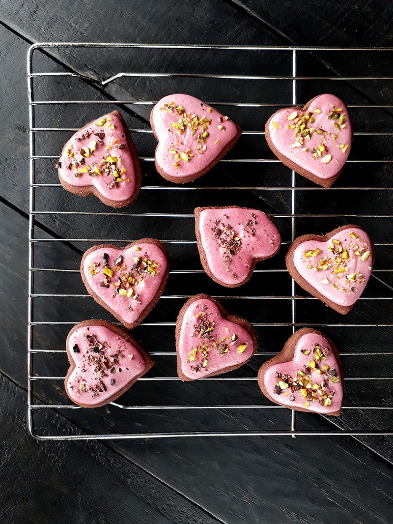 Pink Chai Schoko Cookies Vegan Glutenfrei