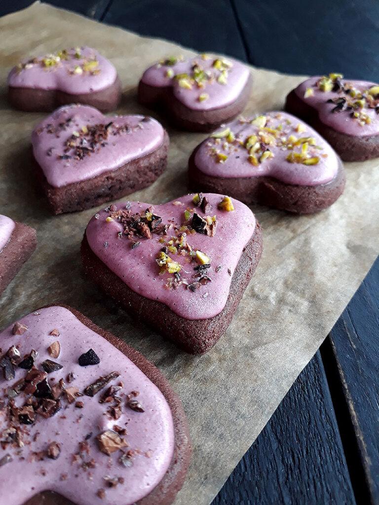 Vegane Glutenfreie Pink Chai Schoko Cookies 2