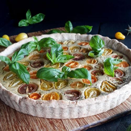 Basilikum Tomaten Tarte Vegan Glutenfrei Rezept 2 1