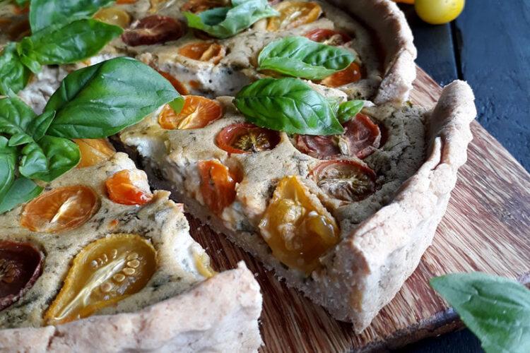 Basilikum Tomaten Tarte Vegan Glutenfrei Rezept