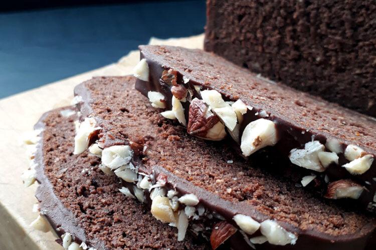 Hazelnut Chocolate Loaf Vegan Gluten free Recipe