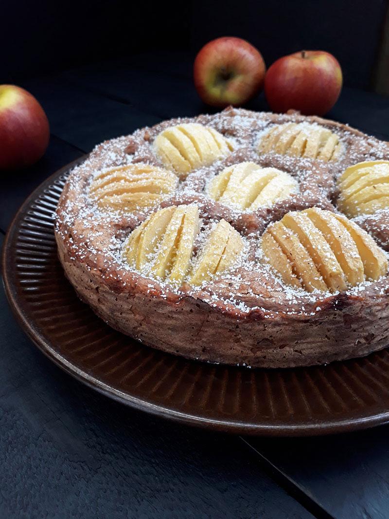 Apple Cake (Vegan, Gluten-free, Oil-free, Fruit-sweetened)