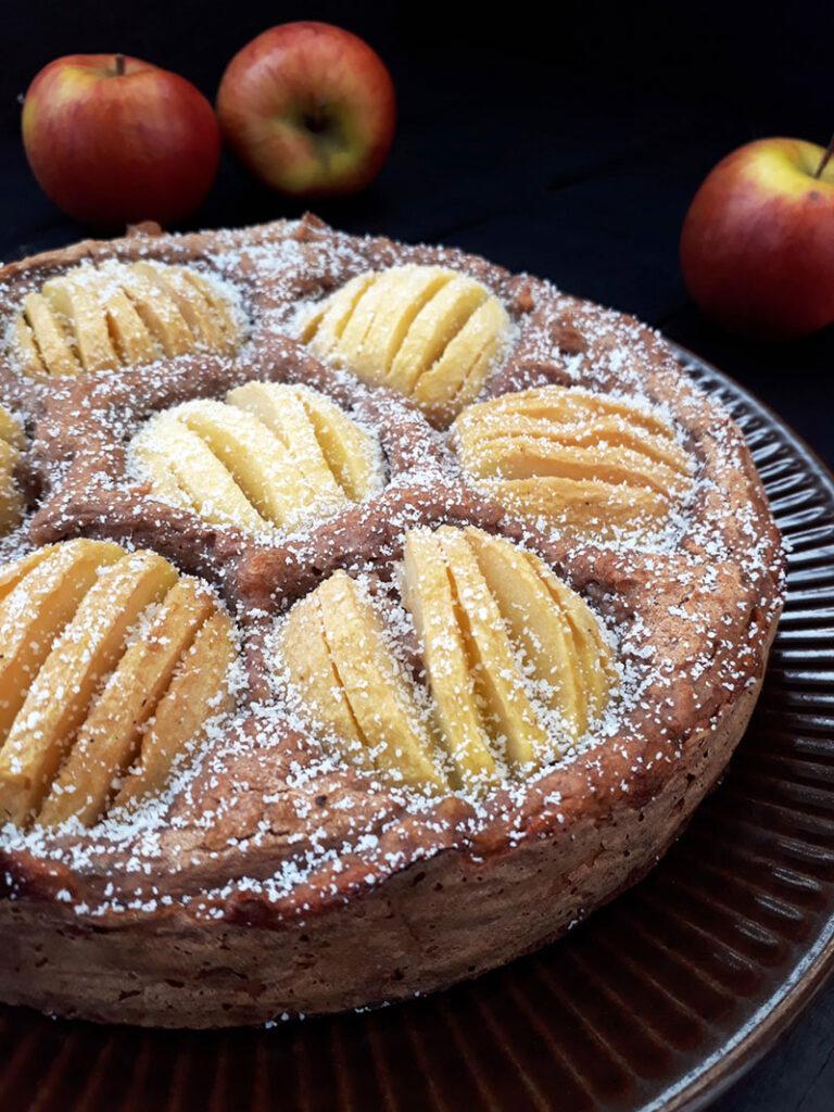 Versunkener Apfelkuchen Vegan Glutenfrei Rezept