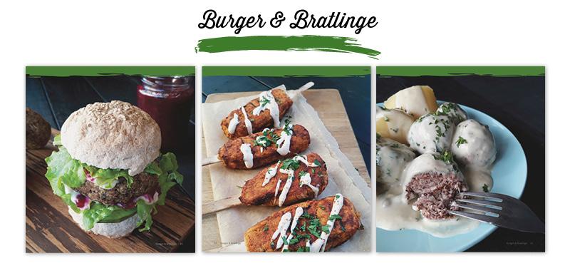 Herzhaftes für Alle Vegan Glutenfrei Rezepte Kochbuch - Burger und Bratlinge