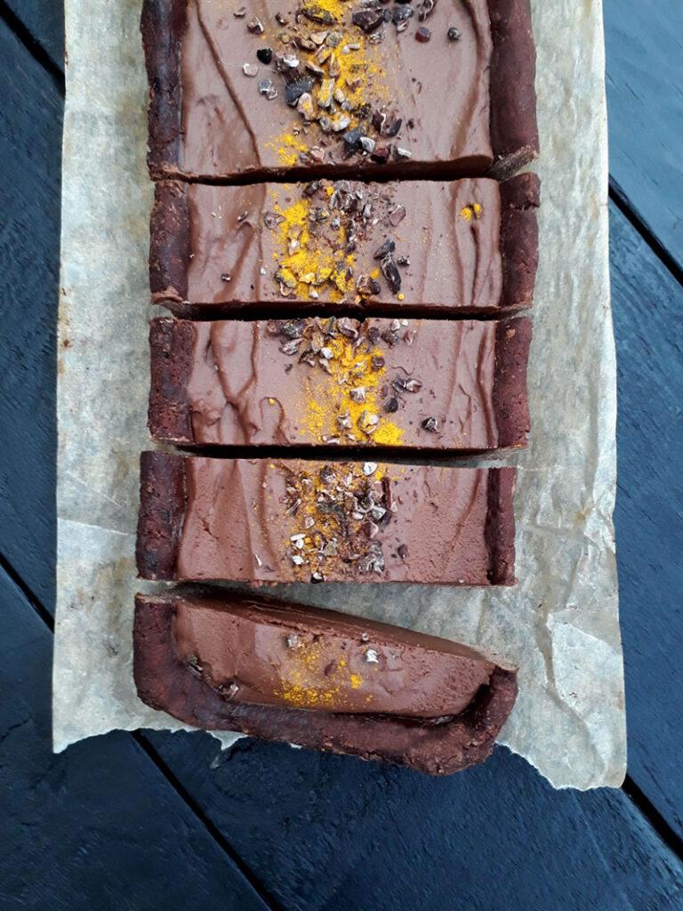 Pumpkin Chocolate Tart Vegan Gluten-free